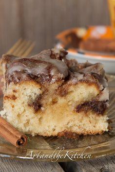 Cinnamon Roll Swirl cake - this cake tastes just like eating a fresh cinnamon bun!