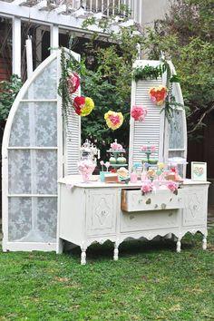 I Heart You Valentine's Day Garden Party via Kara's Party Ideas KarasPartyIdeas.com Cake, decor, printables, giveaways, tutorials and more! #valentinesday #valentinesdaypartyideas #gardenparty #gardenpartyideas #valentinesdayparty #karaspartyideas (9)