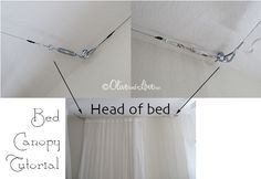 bed canopy tutorial DIY Olive and Love
