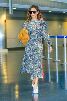 Victoria Beckham Puts a Posh Spin on Print-on-Print Dressing