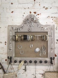 Painted Cottage Chic Shabby Farmhouse Jewelry Organizer [HD164] - $69.00 : The Painted Cottage, Vintage Painted Furniture