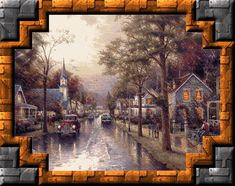 Thomas Kinkade Paintings of The Rain   Hope the water  flows when you get  the f58e62d329