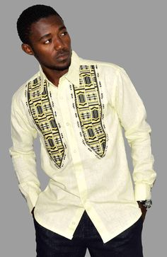 Linen fabric and embroidered shirt African print African Fabric, African Dress, Steve Biko, Mixing Prints, Linen Fabric, Printing On Fabric, Long Sleeve Shirts, Men Sweater, Trending Outfits