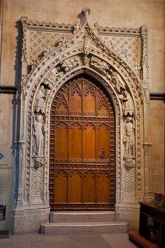 Medieval Door In Rochester Cathedral Door Entryway, Entrance Doors, Doorway, Front Doors, Cool Doors, Unique Doors, Portal, Rochester Cathedral, Medieval Door