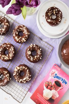 Try our Sweet'N Low recipe for Baked Chocolate Whiskey Donuts! Sweet And Low, Chocolate Glaze, Low Sugar, Sweet Desserts, Pastries, Donuts, Whiskey, Sweet Tooth, Brunch