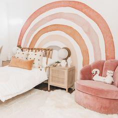 Baby Bedroom, Baby Room Decor, Girls Bedroom, Modern Kids Bedroom, Kids Wall Decor, Bedroom Ideas, Big Girl Bedrooms, Little Girl Rooms, Rainbow Room