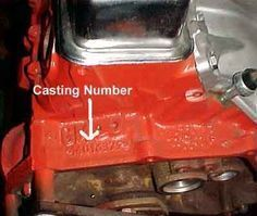 """A quick reference catalog of Chevrolet V-8 engine block casting numbers including the """"W"""" engine blocks. Bookmark this quick reference guide and check back as needed."""