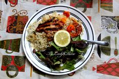 http://www.thelady8home.com/2012/09/10/green-cashew-rice-grilled-tilapia-with-balsamic-dressing/