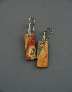Pinned Red Creek Jasper Earrings style 4 by MaggieJs on Etsy. Gorgeous.
