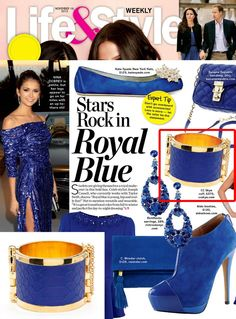 Electric Blue Python #CCSKYE Riviera Cuff in Life & Style Magazine.