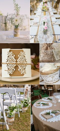Rustic Burlap and Lace Wedding Ideas for Country Wedding