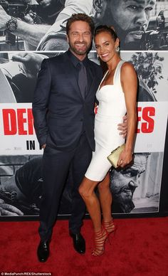 Hot romance: Gerard Butler and girlfriend Morgan brown sizzled on the red carpet as they arrived for the Los Angeles premiere of his new film Den Of Thieves Eric Braeden, London Has Fallen, Scottish Actors, The Ugly Truth, Action Movies, Action Film, Gerard Butler, Dressed To Kill, Artists