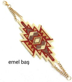 Peyote bracelet by Emel Bas from Turkey (design belongs to artistic.bracelet)