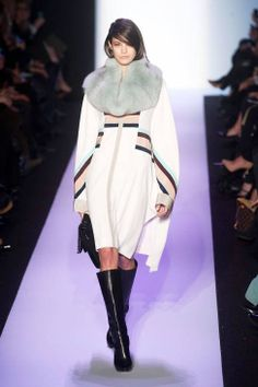BCBG Max Azria AW14 runway | not sure about the shape, but I love the color scheme. and the boots.