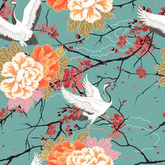 Image result for japanese birds illustration