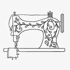 drawn-sewing-machine