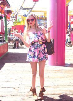Santa Monica, Venice Beach y Marina del Rey 10-4-2014 Jumpsuit: The must have / Boots: Alpe / Belt: Asos / Sunnies: Guess / Bag: Louis Vuitton