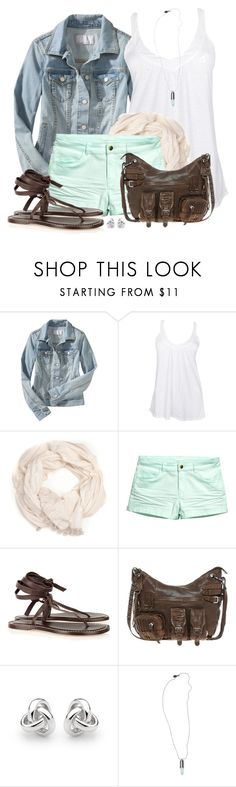 """Colored Shorts"" by wishlist123 ❤ liked on Polyvore featuring Old Navy, Fresh Laundry, Ananda Design, H&M, Bernardo, Urban Code, Georgini, Scotch & Soda, denimjacket and summersandals"