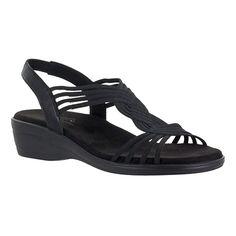 34140e51397a9b Easy Street Natara Slingback Sandal Black 6.5 M Black Strap Sandals