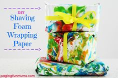 DIY Shaving Foam Wrapping Paper