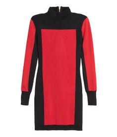 BALMAIN x H&M US   Color-Block Turtleneck Dress
