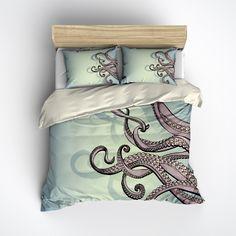 Purple Octopus Tentacle Bedding