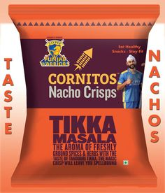 CORNITOS! Tikka Masala: Flavor that leaves a lasting impression, just like a Punjab Warriors match.