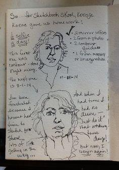 Homework for sketchbook skool! Learn Art, Art Sketchbook, Homework, Notebooks, Writers, Journaling, Sketches, Classroom, Artists