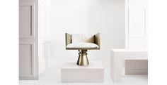 Brass Chess Arm Chair - Anna Karlin
