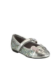 Clothing at Tesco | F&F Mouse Glitter Pumps > shoes > Shoes & Boots > Kids