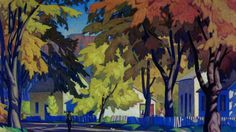 """Casson painting sells for record price - The Globe and Mail - """"Street in Glen Williams Tom Thomson, Emily Carr, Canadian Painters, Canadian Artists, Landscape Art, Landscape Paintings, Fall Paintings, Landscapes, Creative Landscape"""