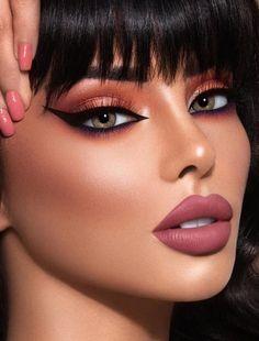 Exquisite and precise - eye-makeup Glam Makeup, Sexy Makeup, Gorgeous Makeup, Bridal Makeup, Beauty Makeup, Makeup Looks, Face Makeup, Dramatic Makeup, Flawless Makeup