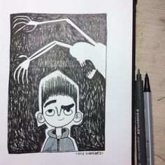 INKtober 2016 # 25 | ParaNorman | Facebook: https:// www.facebook.com/crisgarabatos.mx/ | #inktober #sketchbook #illustration #ink #sketch #inktober2016 #ilustración #paranorman #laika #animation #fanart