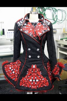 Irish dance solo dress by Heidi Bird Design. I don't know if it's a good solo dress, but the sewing work on it is nice.