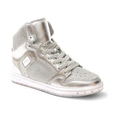 Glam Pie Glitter Sneakers in Silver: http://shop.nylon.com/collections/whats-new/products/glam-pie-glitter-sneakers-in-silver #NYLONshop