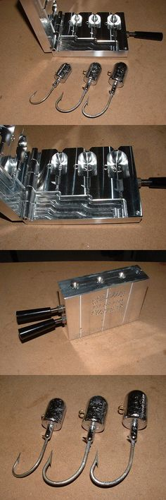 Tackle Craft 165931: Saltwater Bullet Jig Mold 8, 12, 16Oz Cnc Aluminum -> BUY IT NOW ONLY: $155 on eBay!