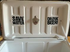 save water drink beer cooler inside