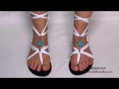 ▶ Sandalias de mujer Ribbon shoes - YouTube