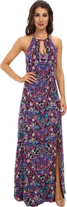 Nicole Miller Women's Berry Bliss Halter Love Dress Pinkberry Dress 12