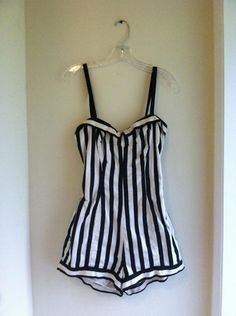 a674cbf2ad this one Vintage Bathing Suits, Vintage Swimsuits, Pretty Swimsuits, Black  And White One