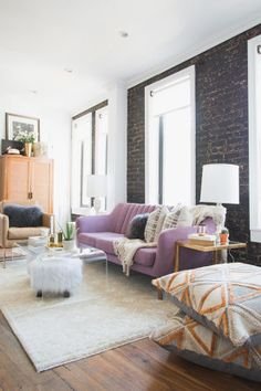 """Homepolish Interior Design   """"The space has so many different functions - bedroom, dining room, office, living room/ lounge and breakfast bar. (I counted, and there are AT LEAST fourteen places to sit. Unheard of in an NYC apartment!"""""""