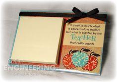 Teacher Gift Idea: DIY Post It Note Holder