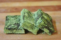 Matcha Cocoa Nib Brownies