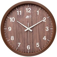 """12"""" Maytime Indoor/Outdoor Faux Wooden Wall Clock Modern Silent Sweep Home Decor #Maytime"""