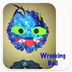 Wrecking Ball from Skylanders - birthday party decorations for my nephew that my sister, brother in law and I made :)