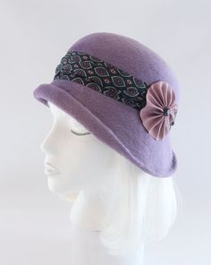 79349764428 Asymmetrical 1920s Style Flapper Hat. Vintage Style Millinery w  Silk Tie  Band