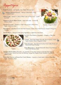 Now You Can Order Online or Call In For Takeout Using Our Online Menu and Ordering!