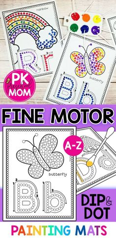 formation painting alphabet letter stroke motor fine qtip with dip dot Fine Motor Alphabet Dip Dot QTip Painting with Letter Stroke FormationYou can find Letter formation and more on our website Fine Motor Activities For Kids, Art Therapy Activities, Preschool Learning Activities, Motor Skills Activities, Kindergarten Letter Activities, Teaching Resources, Alphabet Crafts, Alphabet Letters, Alphabet Games