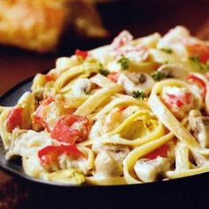 Fettuccine Alfredo with King Crab Leg Meat