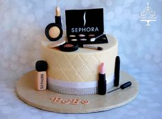 Sephora make up theme cake  By : maryam's cakery
